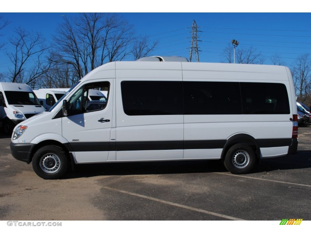 Arctic white 2012 mercedes benz sprinter 2500 high roof for Mercedes benz sprinter passenger
