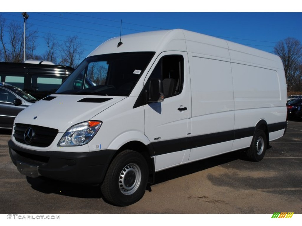 Arctic white 2012 mercedes benz sprinter 2500 high roof for Mercedes benz sprinter cargo van