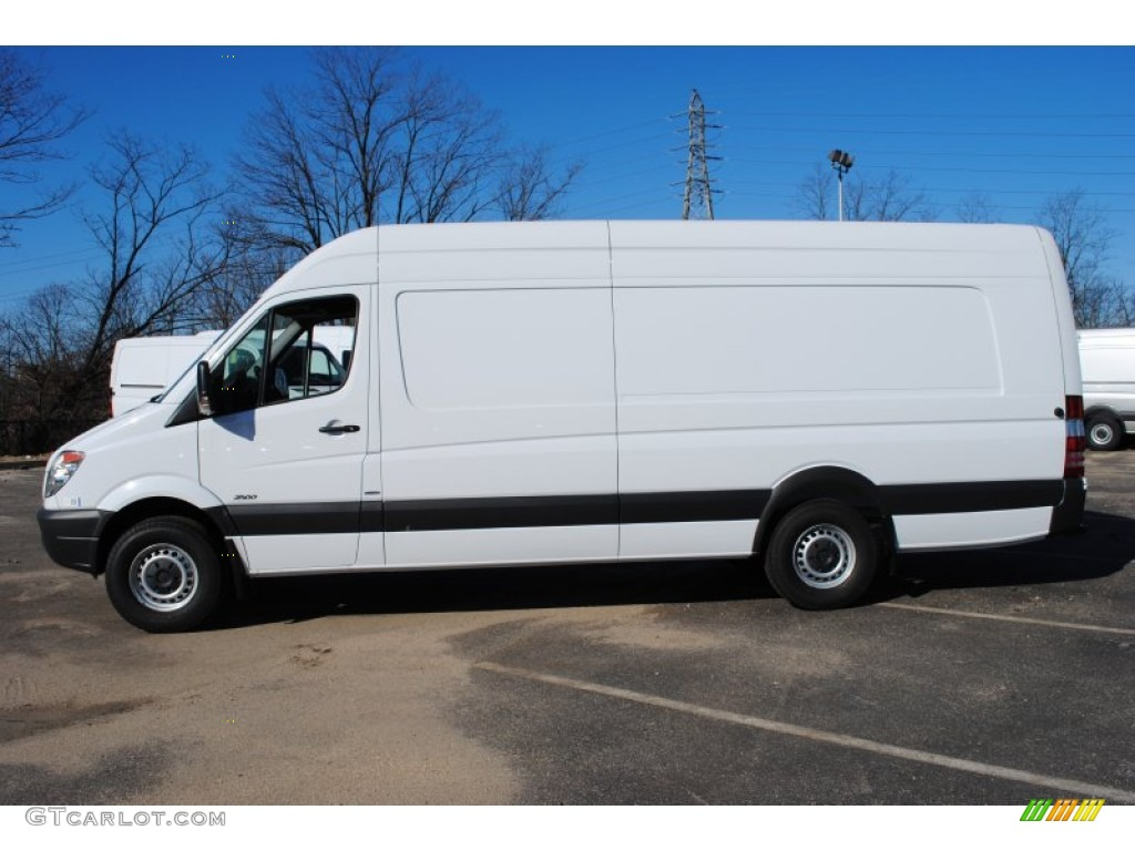 Arctic white 2012 mercedes benz sprinter 2500 high roof for Mercedes benz 2500 cargo van
