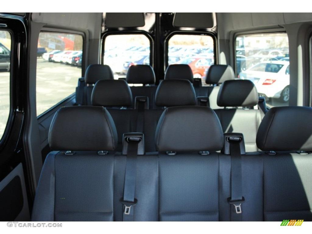 Lima Black Fabric Interior 2012 Mercedes Benz Sprinter 2500 High Roof Passenger Van Photo