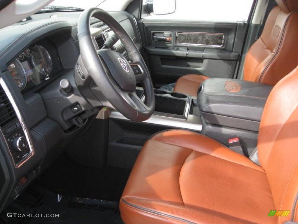 Dark Slate Gray/Russet Brown Interior 2011 Dodge Ram 2500 HD Laramie  Longhorn Mega Cab
