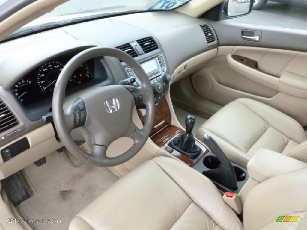 Ivory Interior 2007 Honda Accord Ex L Sedan Photo