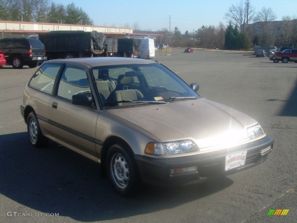 1990 laguna gold metallic honda civic dx hatchback for Gold honda civic