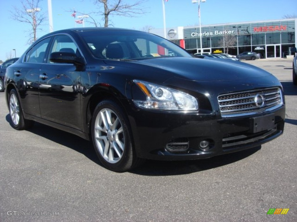 2011 super black nissan maxima 3 5 s 60561688 car color galleries. Black Bedroom Furniture Sets. Home Design Ideas