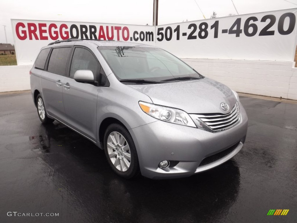 2012 Sienna Limited - Silver Sky Metallic / Light Gray photo #1