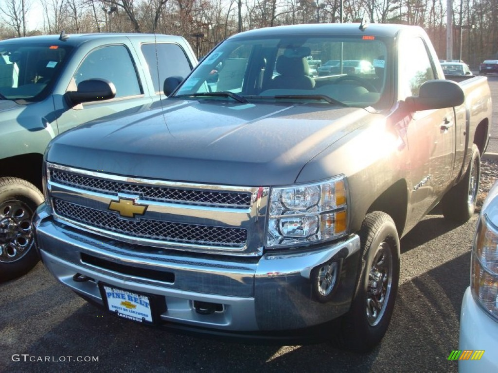 2012 Silverado 1500 LS Regular Cab 4x4 - Mocha Steel Metallic / Dark Titanium photo #1