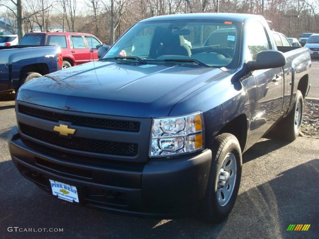 2012 Silverado 1500 Work Truck Regular Cab 4x4 - Imperial Blue Metallic / Dark Titanium photo #1