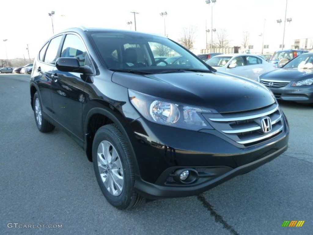 Crystal Black Pearl 2012 Honda CR-V EX-L 4WD Exterior Photo #60621587