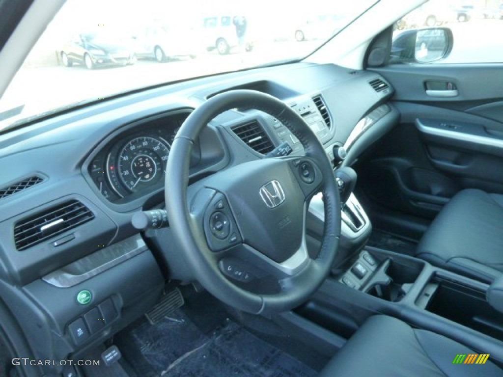 Black Interior 2012 Honda CR-V EX-L 4WD Photo #60621632