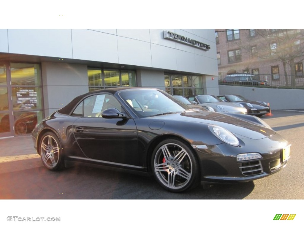 2009 atlas grey metallic porsche 911 carrera 4s cabriolet. Black Bedroom Furniture Sets. Home Design Ideas