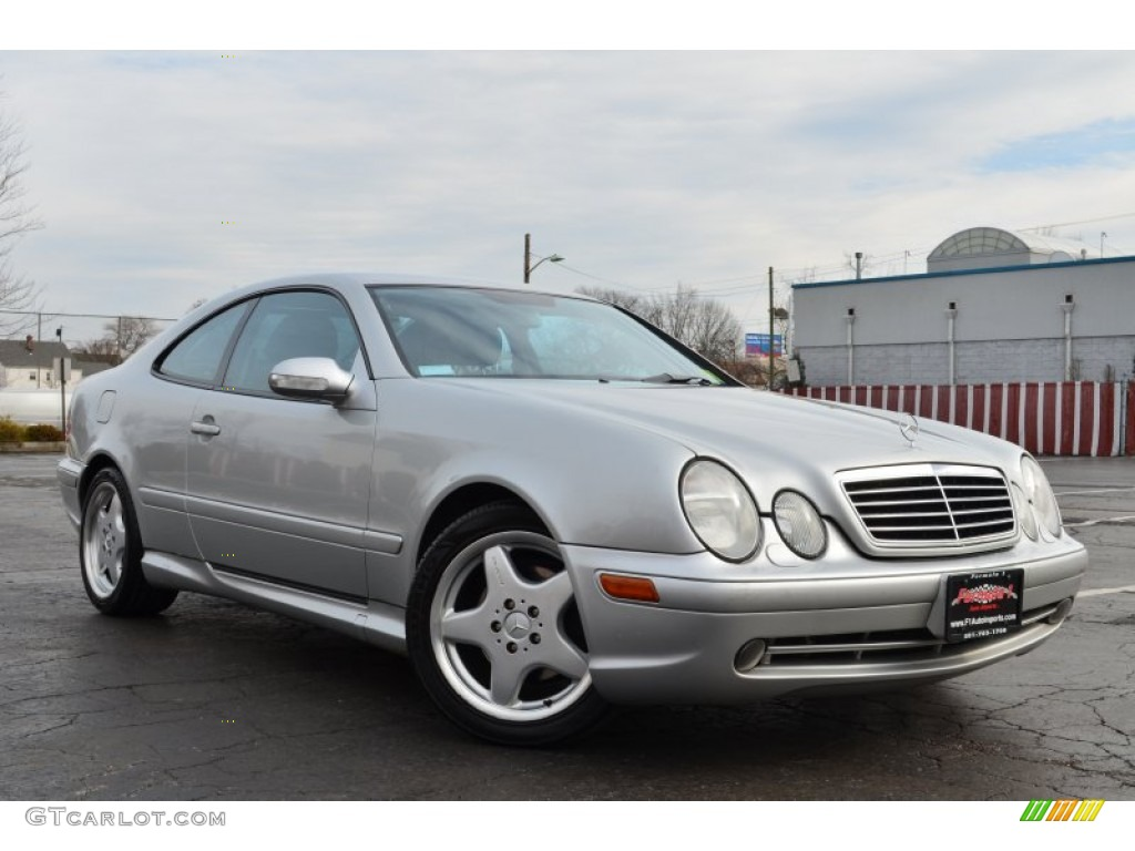 2000 brilliant silver metallic mercedes benz clk 430 coupe 60624726 car color. Black Bedroom Furniture Sets. Home Design Ideas