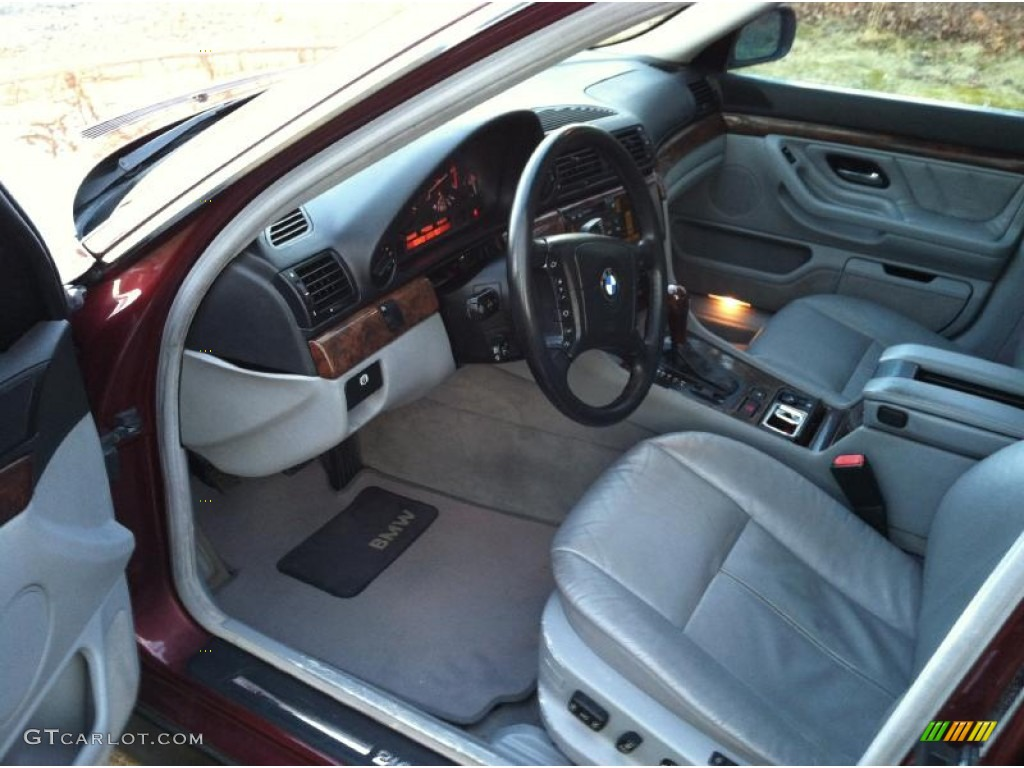 Grey Interior 2000 BMW 7 Series 740i Sedan Photo 60641623