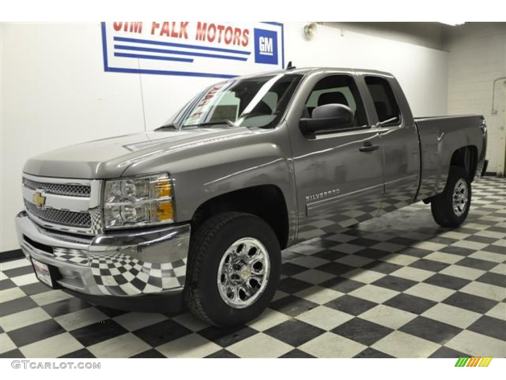 2012 Silverado 1500 LS Extended Cab - Graystone Metallic / Dark Titanium photo #1