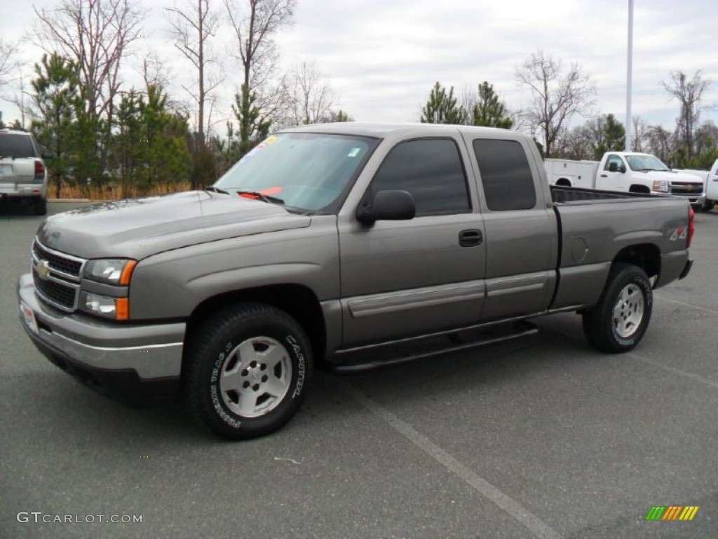 2007 graystone metallic chevrolet silverado 1500 classic ls extended cab 4x4 60657064. Black Bedroom Furniture Sets. Home Design Ideas