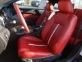 2012 Ford Mustang Brick Red/Cashmere Interior Front Seat Photo
