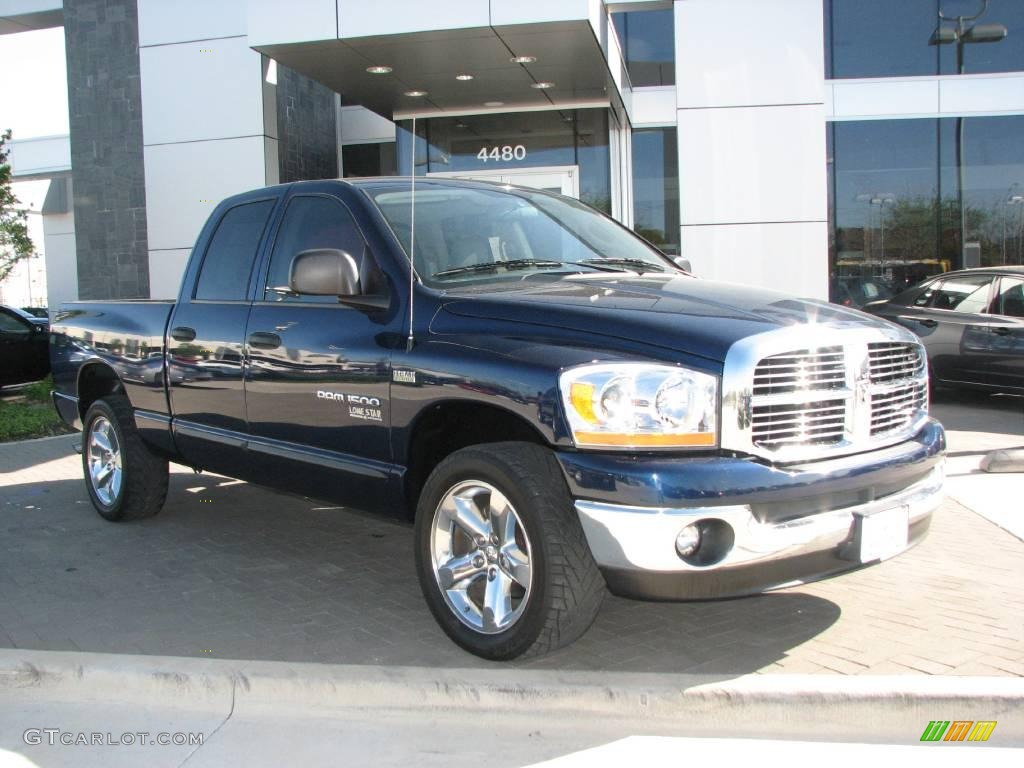 2006 Ram 1500 SLT Lone Star Edition Quad Cab - Patriot Blue Pearl / Medium Slate Gray photo #1