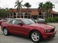 2011 Red Candy Metallic Ford Mustang V6 Convertible  photo #1