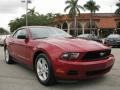 2011 Red Candy Metallic Ford Mustang V6 Convertible  photo #2