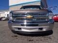 2012 Mocha Steel Metallic Chevrolet Silverado 1500 Work Truck Regular Cab 4x4  photo #3