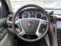 2011 Cadillac Escalade Cocoa/Light Linen Tehama Leather Interior Steering Wheel Photo