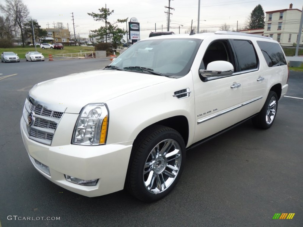 white diamond tricoat 2012 cadillac escalade esv platinum. Black Bedroom Furniture Sets. Home Design Ideas