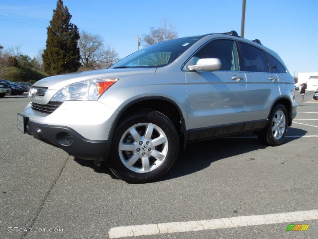 2009 CR-V EX-L - Alabaster Silver Metallic / Gray photo #3