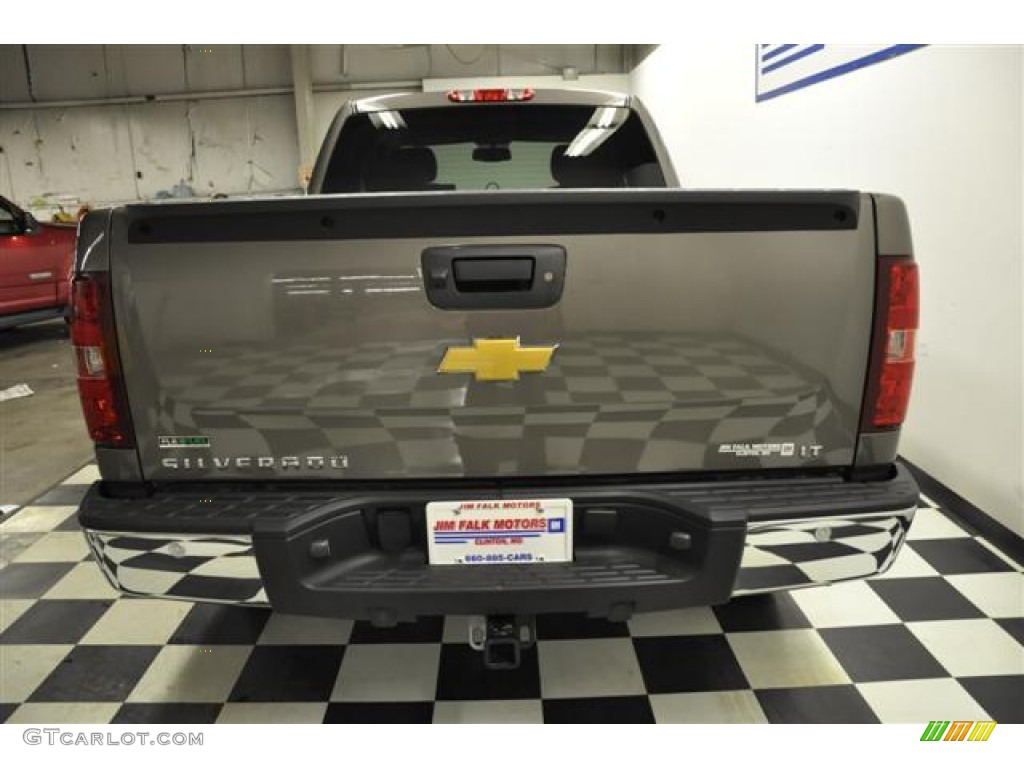 2012 Silverado 1500 LT Extended Cab 4x4 - Graystone Metallic / Ebony photo #6