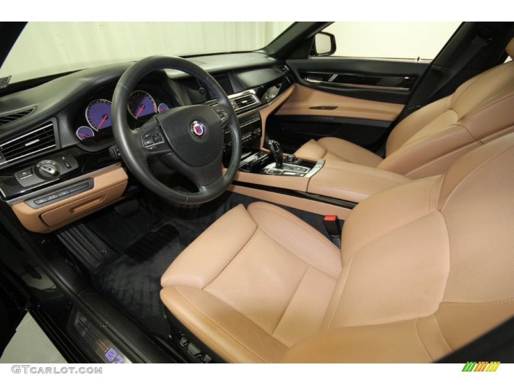 saddle black nappa leather interior 2011 bmw 7 series alpina b7 lwb photo 60711920. Black Bedroom Furniture Sets. Home Design Ideas