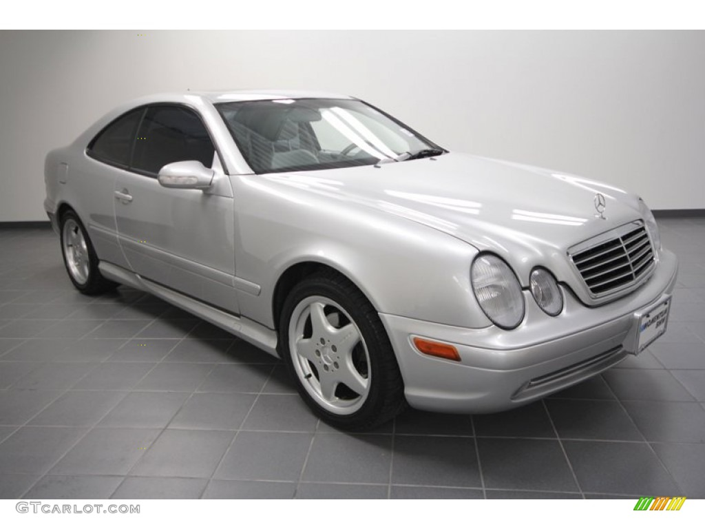 2002 brilliant silver metallic mercedes benz clk 430 coupe 60696473 car color. Black Bedroom Furniture Sets. Home Design Ideas