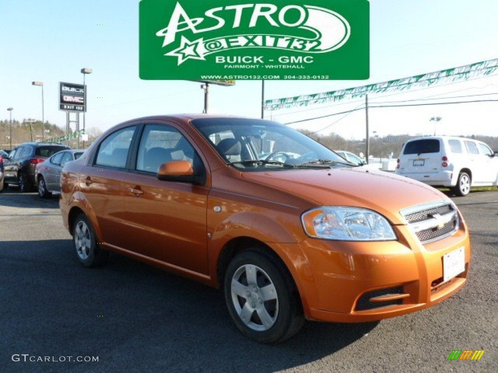 2007 Spicy Orange Chevrolet Aveo Ls Sedan 60696700