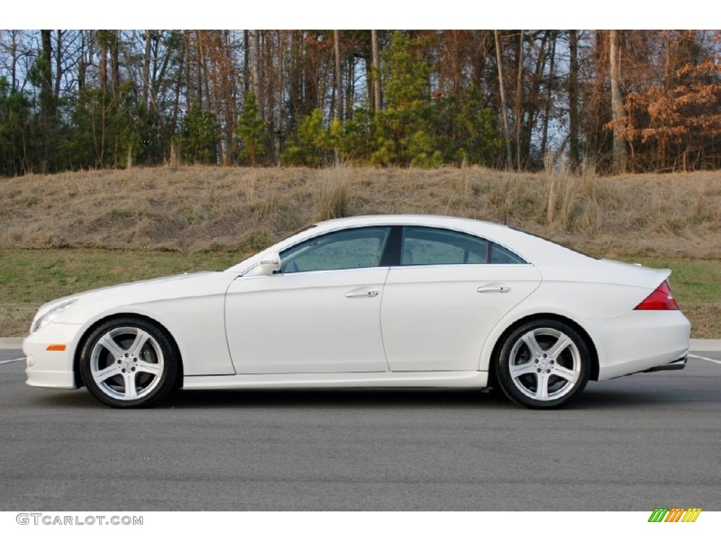 alabaster white 2006 mercedes benz cls 500 exterior photo. Black Bedroom Furniture Sets. Home Design Ideas