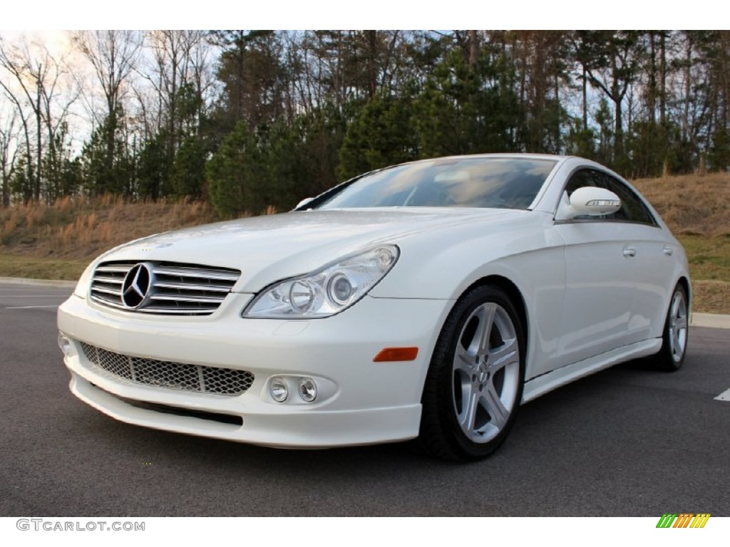 Alabaster White 2006 Mercedes Benz Cls 500 Exterior Photo