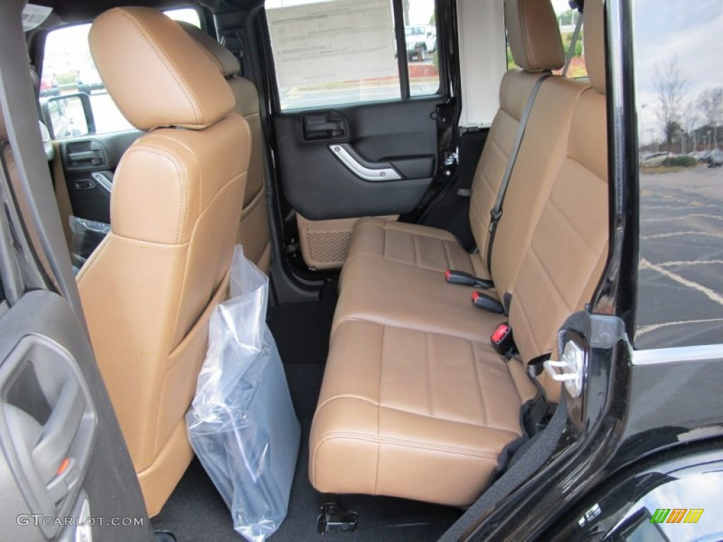 Black Dark Saddle Interior 2012 Jeep Wrangler Unlimited Sahara 4x4 Photo 60753758
