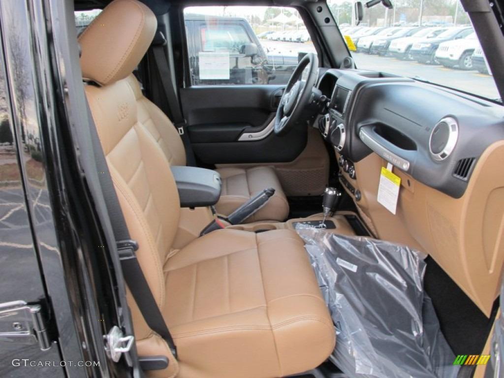 Black Dark Saddle Interior 2012 Jeep Wrangler Unlimited Sahara 4x4 Photo 60753773