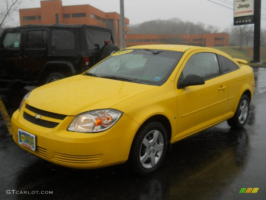 2008 rally yellow chevrolet cobalt ls coupe 60753225. Black Bedroom Furniture Sets. Home Design Ideas