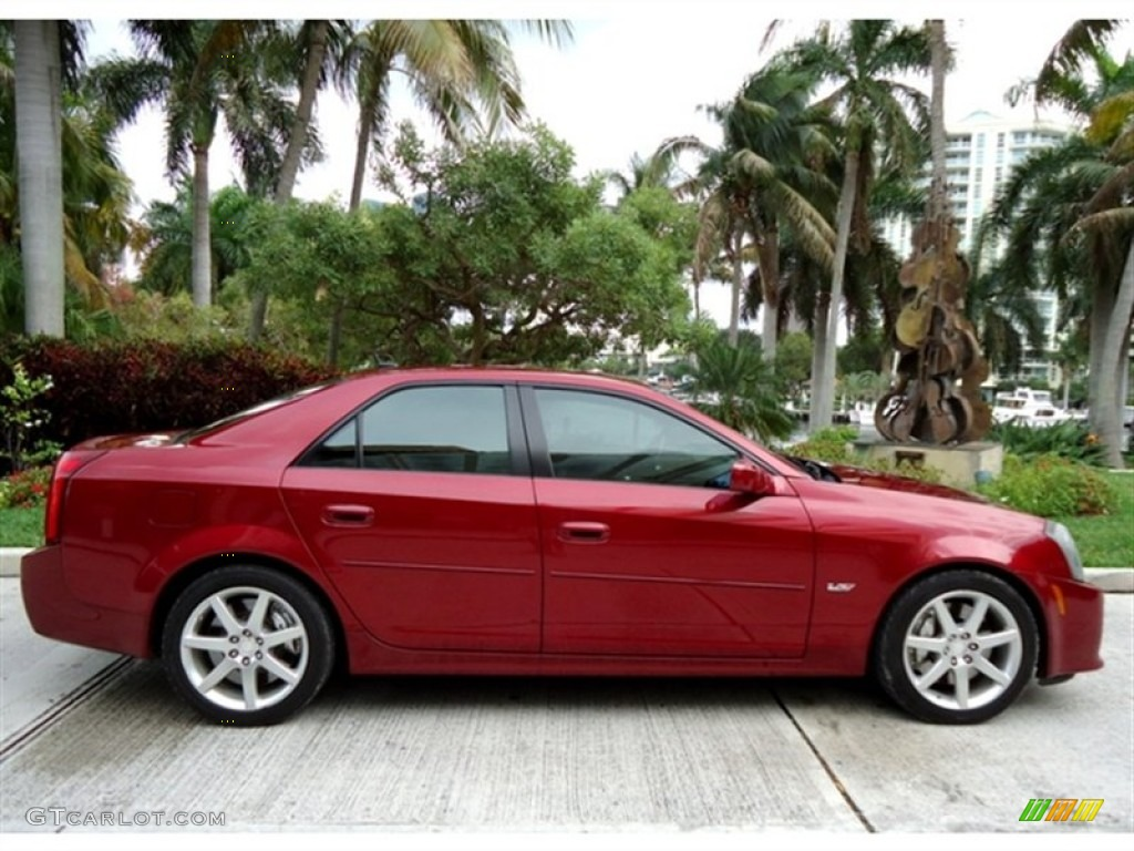 Red line 2005 cadillac cts v series