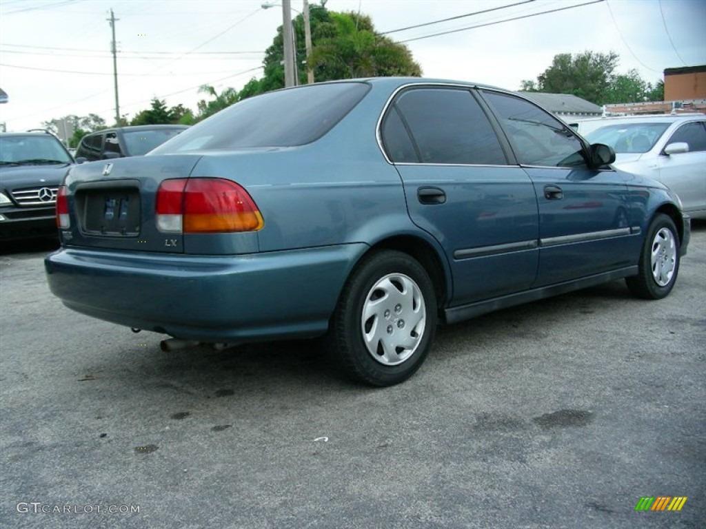 1996 cyclone blue metallic honda civic lx sedan 60752951 photo 3 car color. Black Bedroom Furniture Sets. Home Design Ideas
