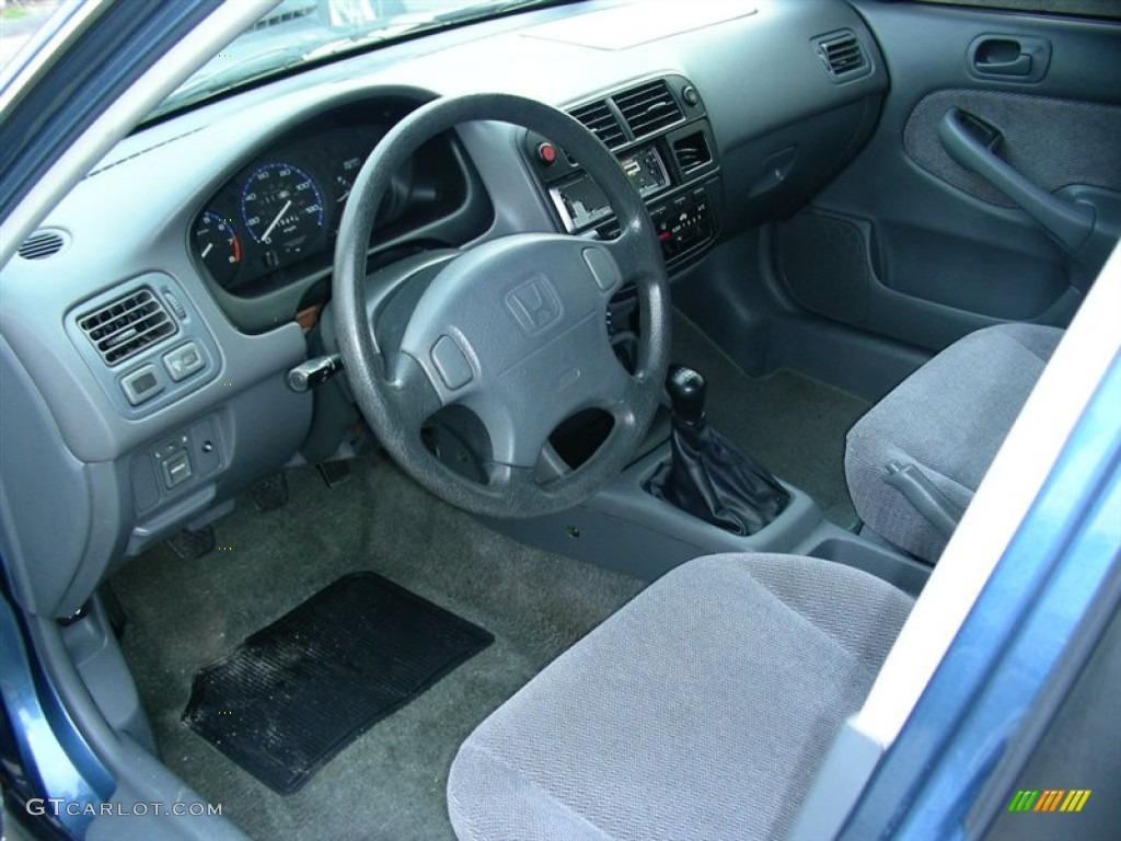 1996 Cyclone Blue Metallic Honda Civic Lx Sedan 60752951 Photo 5 Car Color