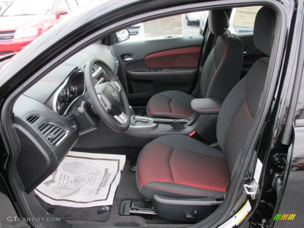 Black Red Interior 2012 Dodge Avenger Sxt Plus Photo