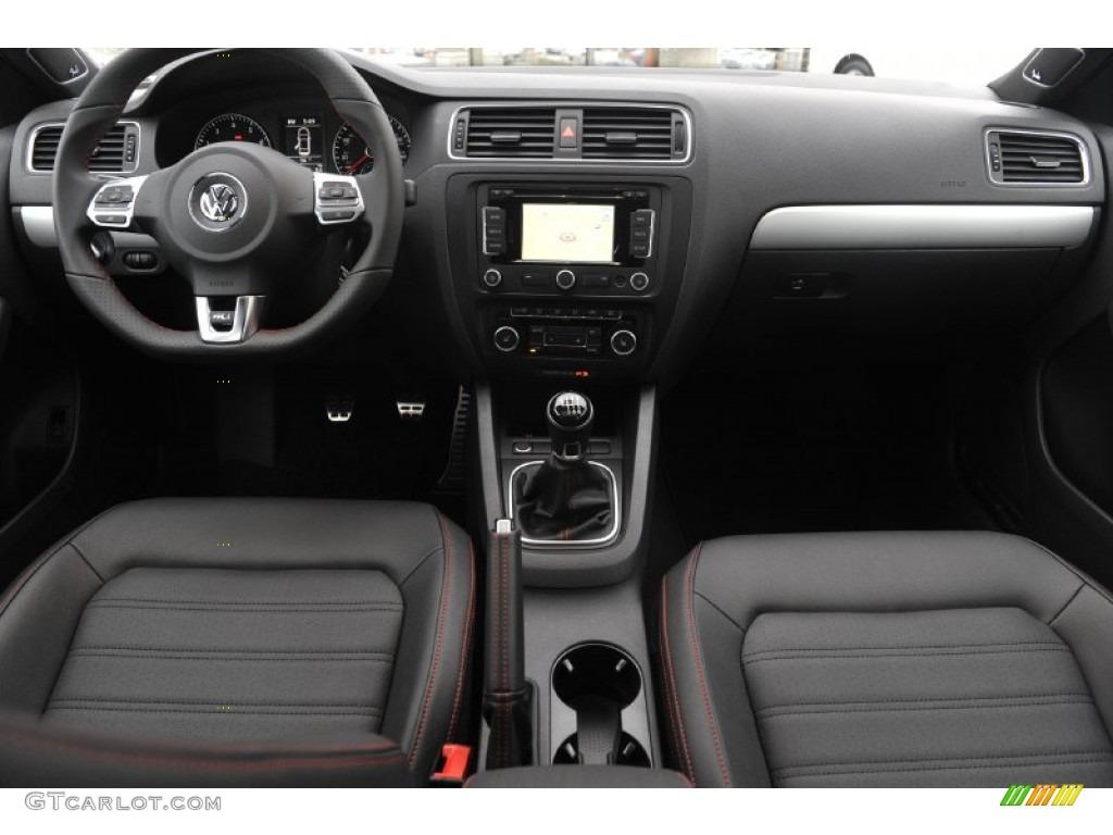 2012 Volkswagen Jetta GLI Autobahn Titan Black Dashboard Photo #60811503 | GTCarLot.com