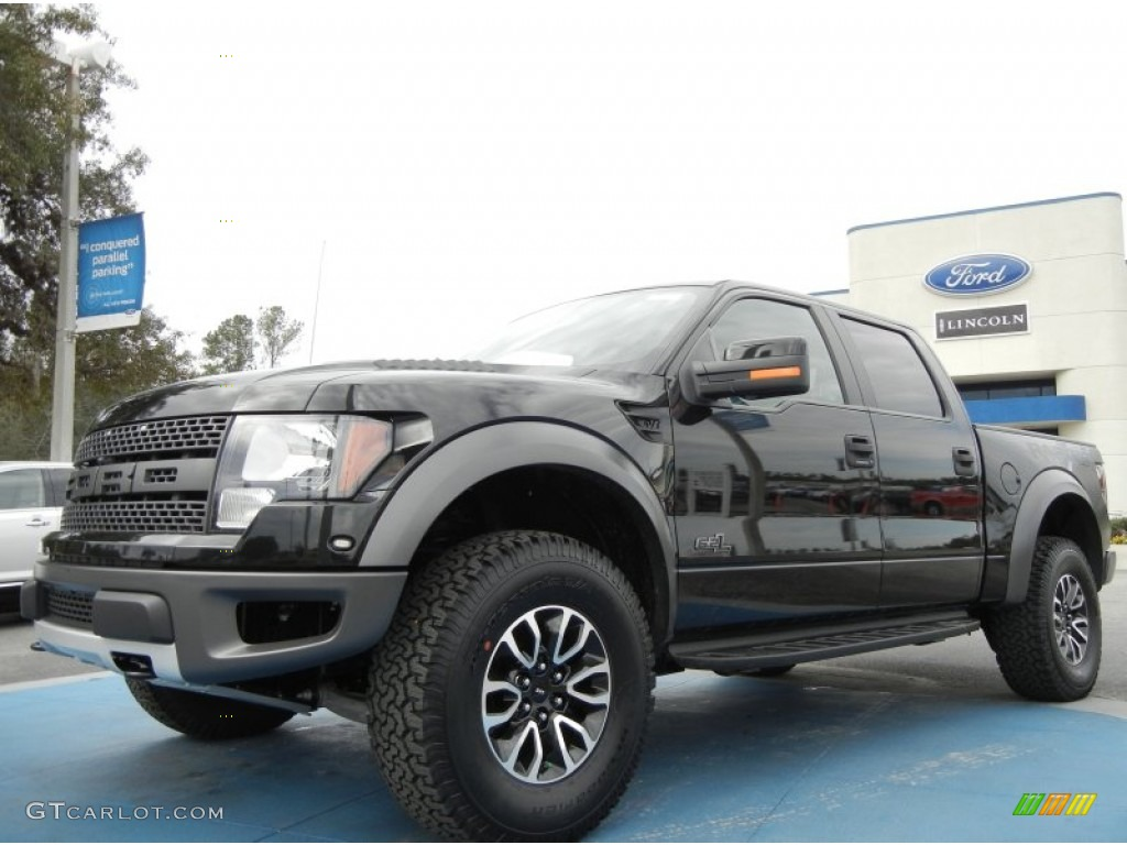 2012 tuxedo black metallic ford f150 svt raptor supercrew 4x4 60804945 car. Black Bedroom Furniture Sets. Home Design Ideas