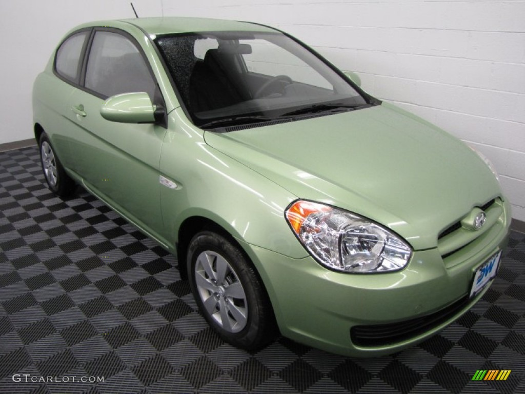 2008 Apple Green Hyundai Accent GS Coupe 60805190