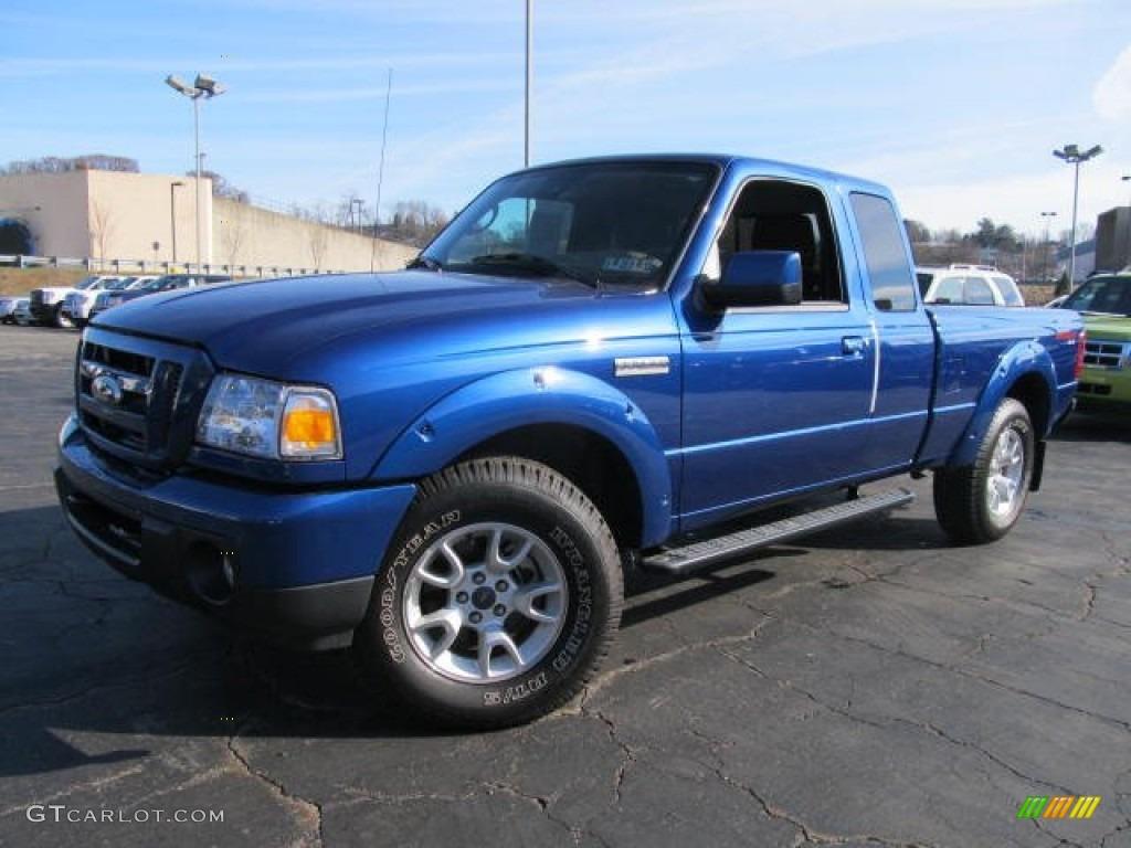 Vista blue metallic ford ranger ford ranger sport supercab 4x4