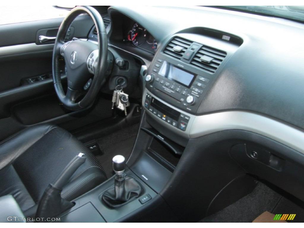 2008 acura tsx sedan ebony dashboard photo 60816453. Black Bedroom Furniture Sets. Home Design Ideas