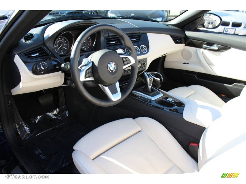 ivory white nappa leather interior 2009 bmw z4 sdrive35i roadster photo 60818796. Black Bedroom Furniture Sets. Home Design Ideas
