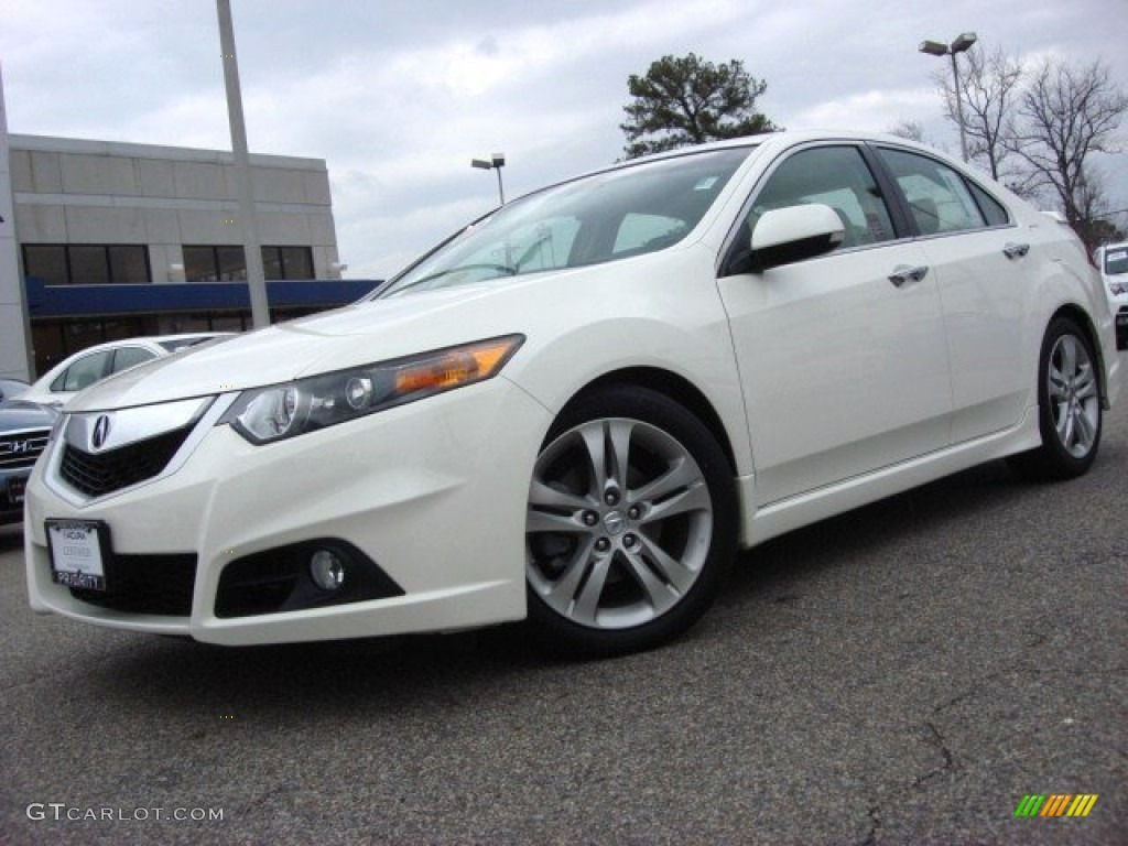 2010 premium white pearl acura tsx v6 sedan 60804881. Black Bedroom Furniture Sets. Home Design Ideas
