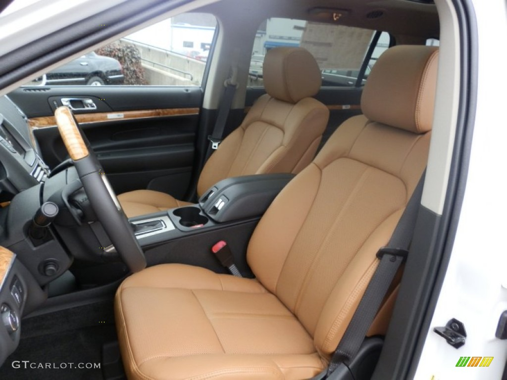Charcoal Black/Canyon Interior 2012 Lincoln MKT EcoBoost AWD Photo #60837830