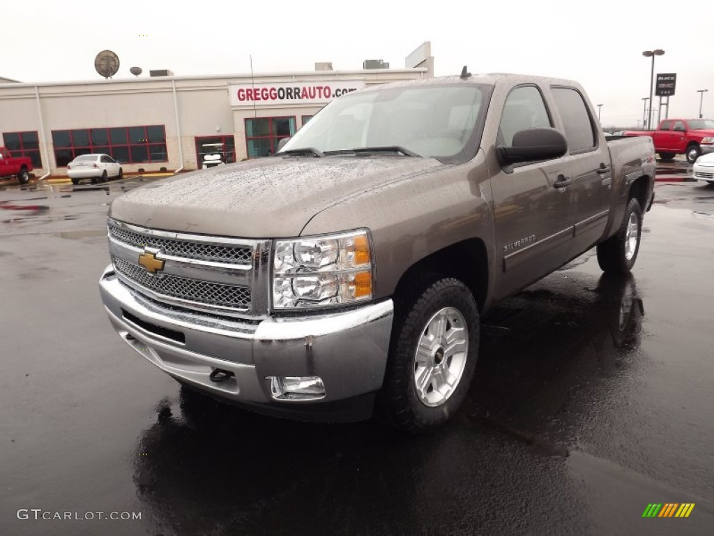 2012 Silverado 1500 LT Crew Cab 4x4 - Mocha Steel Metallic / Light Cashmere/Dark Cashmere photo #1