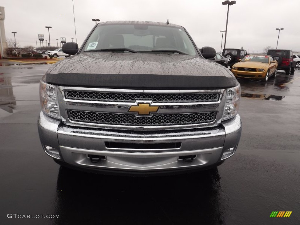 2012 Silverado 1500 LT Crew Cab 4x4 - Mocha Steel Metallic / Light Cashmere/Dark Cashmere photo #2