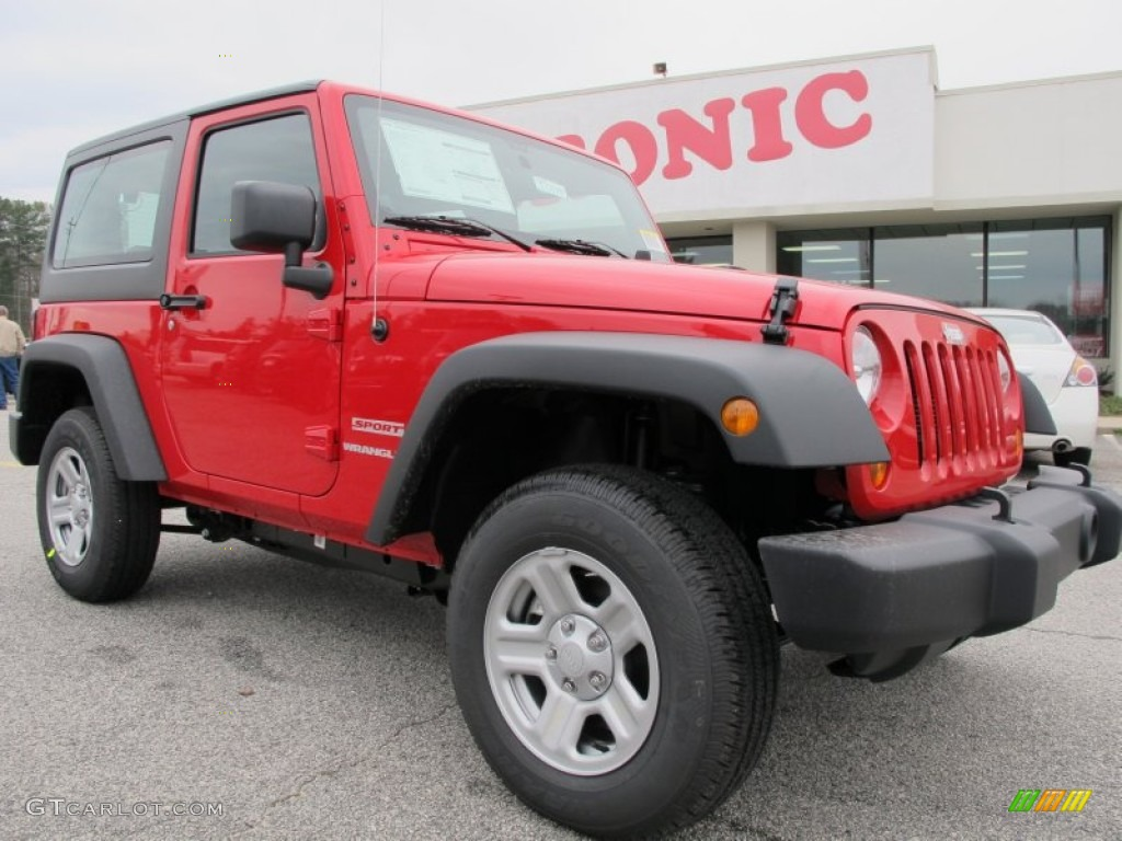 2012 Wrangler Sport 4x4 - Flame Red / Black photo #1